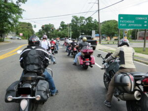 Group Ride From Behind