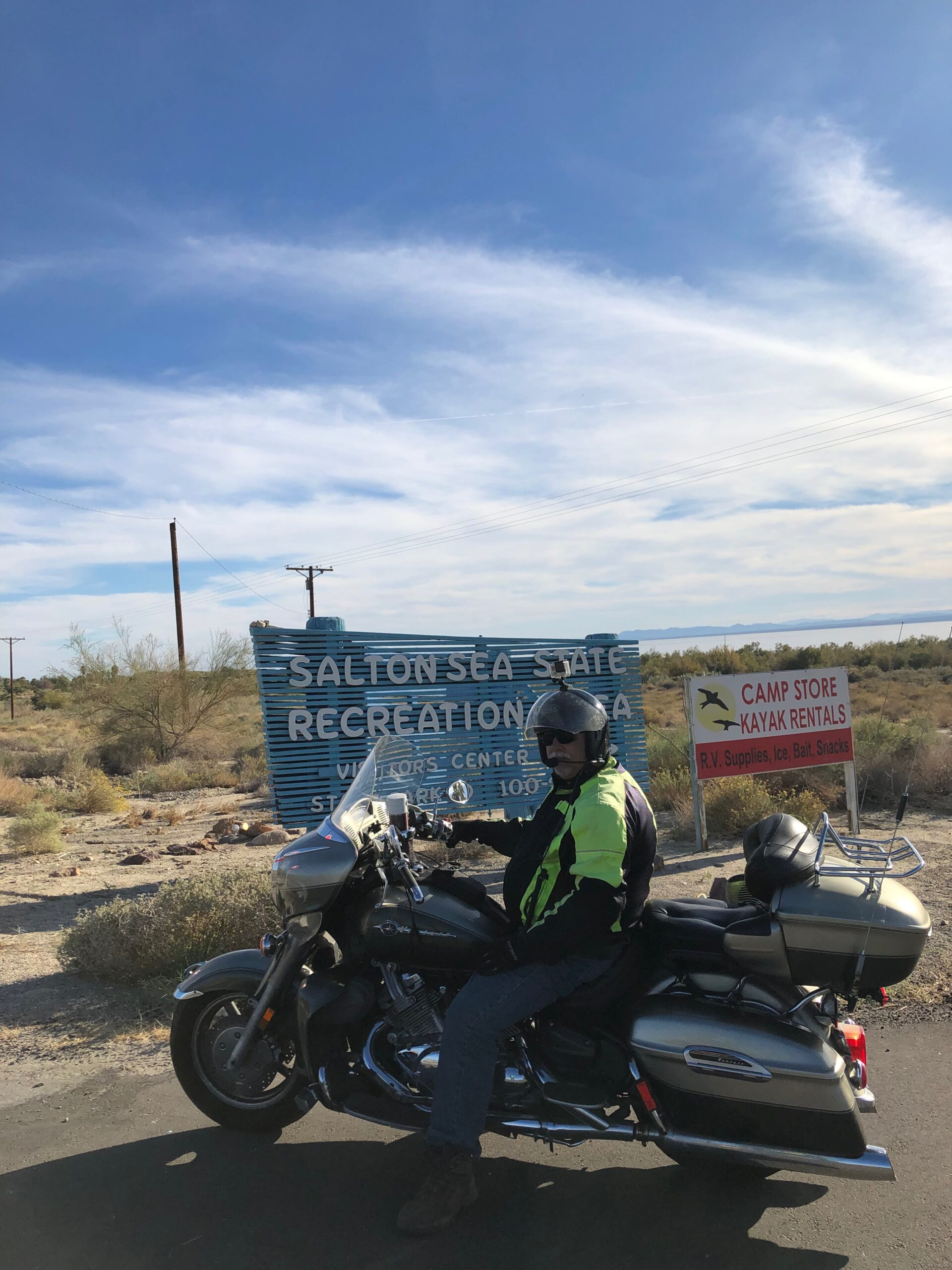 The Motorcycle At The Salton Sea