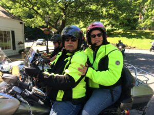 Dennis and Chris On The Motorcycle